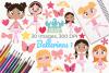 Ballerinas 1 Clipart, Instant Download Vector Art example image 1