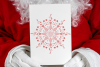 Christmas mandala, single line sketch file / foil quill file example image 2