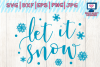 let it snow svg, christmas svg, winter svg example image 1