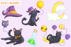 Halloween Party Cats Clip Art Collection example image 2