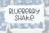 Blueberry Shake - Handwritten Font example image 1