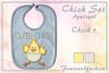 Chick Set_Appliquè example image 2