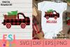 Christmas SVG |Buffalo Plaid Christmas Tree Red Truck Design example image 1