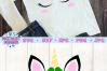 unicorn face svg, unicorn svg, st patricks svg, unicorn head example image 3