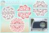 Hand Drawn Mandala Zentangle Split Frame Bundle SVG example image 1