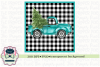 Truck with Christmas Tree Sublimation Printable example image 1