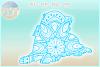 Golden Retriever Mandala Zentangle Bundle SVG Eps Png PDF example image 3