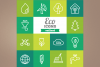 Outlined Eco icons example image 1