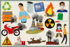 Air Pollution Vector Clipart and Seamless Pattern example image 4