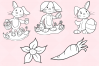 Easter Bunnies Digital Stamps example image 3