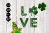 Love Shamrock St Patricks Day SVG example image 2
