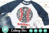 Baseball Mom Words - A Sports SVG Cut File example image 1