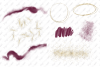 Watercolor Burgundy and Gold Glitter Backgrounds example image 3
