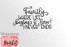Family Where Life Begins & Love Never Ends SVG DXF EPS PNG example image 2