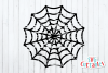 Distressed Spider Web  Halloween SVG Cut File example image 2