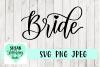 Bride Handlettered Script, SVG, PNG, JPEG example image 1