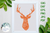 Deer Zentangle, Buck, Animal SVG Cut File example image 1