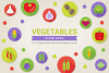 Round Vegetables Icons example image 1