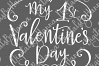 My 1st valentine's day first Year Sign Print & Cut PNG SVG example image 6