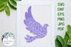 Dove Mandala, Animal Mandala Cut File example image 1