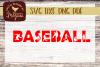 Baseball SVG DXF Cut file example image 1