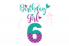 My 6th Birthday Mermaid SVG   Mermaid Birthday Girl svg example image 1
