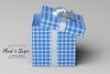 54 Plaid,Stripe & Dots on Blue Shades JPG Background Papers example image 4