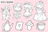 Wonderland Story Book Digital Stamps example image 2