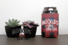bottle/can cover- buffalo plaid MOCK-UP example image 1