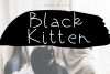 Black Kitten - A Handwritten Font example image 1