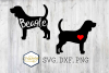 Beagle SVG PNG DXF Dog Breed Lover Cut File Clipart Decal example image 1
