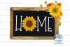 Home Sunflower SVG Set | Home Sign | Fall SVG Cut Files example image 2