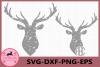 Deer Grunge Monogram Svg, Deer Distressed SVG Files, Deer example image 1