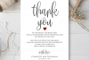 Wedding Thank You Note, Printable Thank You Card Template example image 2