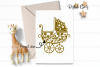 Pram paper cut design SVG / DXF / EPS / PNG files example image 2