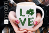 Love Shamrock St Patricks Day SVG example image 1