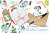 Christmas Unicorns 1 Watercolor Clipart, Instant Download example image 4