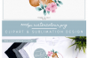 Wreath Mummy and Baby Fox - Sublimation PNG Clipart example image 5