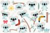 Koala Girls Clipart, Instant Download Vector Art example image 2