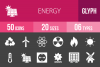 50 Energy Glyph Inverted Icons example image 1