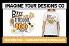 Bzzz My Way - 100 Days of School Sublimation Print example image 1