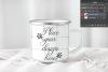 Camping tin mug mockup enamel cup mock up psd smart object example image 2