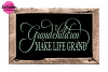 Grandchildren Make Life Grand - SVG, DXF, EPS Cut File example image 2