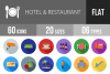 60 Hotel & Restaurant Flat Long Shadow Icons example image 1