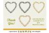 8 svg FLORAL HEARTS leaf heart wreath frames - SVG cut files example image 3