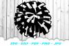 Cheerleader Cheer Megaphone Poms SVG DXF Cut Files Bundle example image 4