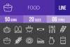 50 Food Line Inverted Icons example image 1
