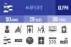 50 Airport Glyph Icons example image 1