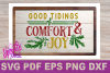SVG Christmas Comfort and Joy DIY Sign stencil farmhouse example image 3
