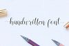 Vessia a lovely script font example image 2